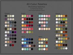 40 Color Swatches by ED-elementaldesign on DeviantArt