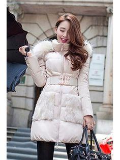 Luxurious Sunflower Fur Nagymaros Collar Down Coats