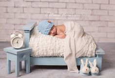 Crochet newborn baby boy beanie/hat baby boy crochet hat by AnyaLu, $25.00