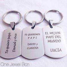 Keyring steinless steel with engrave