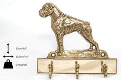 Boxer uncropped dog hanger for clothes limited by ArtDogshopcenter