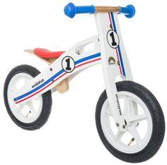 The Duke Wooden Motorbike Balance Bike With Wooden Stand