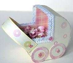 Колясочка – подарочная коробочка для денег. МК