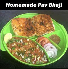 Pav Bhaji, Indian Food Recipes, Homemade, Chicken, Meat, Indian Recipes, Hand Made, Diy, Cubs