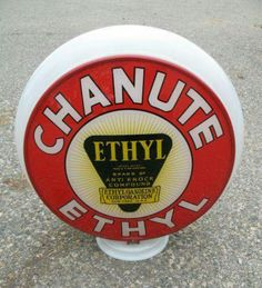 Rare Chanute Ethyl Gas Globe