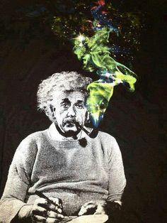 Albert Einstein smoke