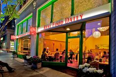 REAL FOOD DAILY in Santa Monica.  Good eats, adorable store. Very busy on Sundays. (Visits: 7) (Rating: <3 <3 <3 <3)