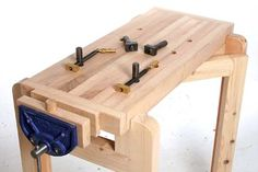 Ultimate Space Saving Bench - The Woodworkers Institute Woodworking Vice, Woodworking For Kids, Woodworking Workbench, Woodworking Projects Diy, Woodworking Shop, Wood Projects, Workbench Vice, Small Workbench, Portable Workbench