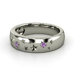 Written in the Stars Ring, Sterling Silver Ring with Amethyst from Gemvara