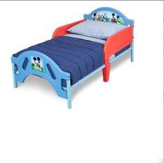 Mickey Mouse Toddler Bed Disney Kids Children Furniture Bedding Frame Bedroom