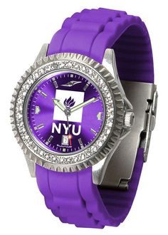Ladies New York University Violets - Sparkle Watch