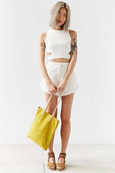 Somedays Lovin Concho River Linen Cropped Top - Urban Outfitters