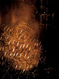 The Chandelier Falls from Anne Bachelier's Phantom of the Opera illustrations