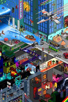 Tribute Pixel Art Poster by Matej Jan, via Behance