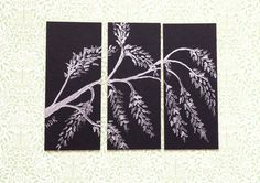Triptych Dolls house picture Oriental Willow style by ArtInWax