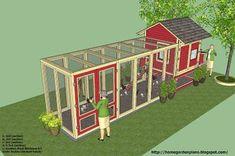 Large Chicken Coop Plans, Chicken Coop Blueprints, Backyard Chicken Coop Plans, Easy Chicken Coop, Chicken Home, Portable Chicken Coop, Chicken Pen, Chicken Garden, Chicken Coop Designs