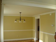 chair rail and crown molding