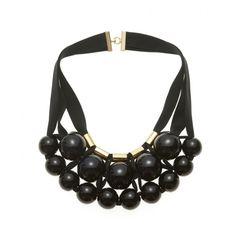 Image of - necklace - collier Marion Vidal J Necklace, Knitted Necklace, Ceramic Necklace, Ceramic Jewelry, Jewelry Crafts, Jewelry Art, Handmade Jewelry, Jewelry Design, Women Jewelry