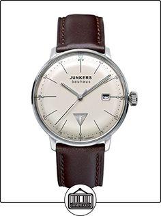 Junkers Bauhaus 60705 - Reloj analógico de cuarzo para hombre, correa de cuero color marrón de  ✿ Relojes para hombre - (Gama media/alta) ✿