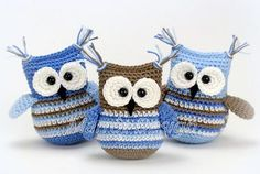 Crochet pattern Owl Pipa - A free Dutch from owl Pipa. Do you also want to crochet owl Pipa? Then read more about the Crochet - Crochet Birds, Crochet Animals, Crochet Baby, Free Crochet, Knitting Patterns, Crochet Patterns, Crochet Amigurumi, Wedding Tattoos, Cute Toys