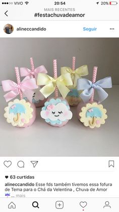 Market Day Ideas, Fantasy Party, Baby Shower Crafts, Kawaii Room, Candy Apples, Baby Party, Party Snacks, Cake Creations, Cupcake Toppers