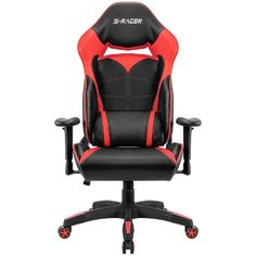 Homall Gaming Chair Racing Style High Back Office Chair Seat Height Adjustable Computer Chair PU Leather Desk Chair Ergonomic Tilt E-Sports Chair (Red) Ergonomic Computer Chair, Computer Desk Chair, Ergonomic Chair, High Back Office Chair, Black Office Chair, Chaise Gaming, Gaming Chair, Mission Chair, Small Swivel Chair