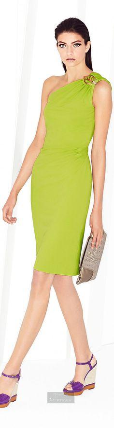 Escada Spring 2015 women fashion outfit clothing style apparel @roressclothes closet ideas