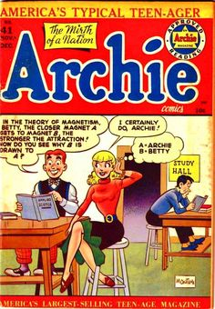 A cover gallery for the comic book Archie Archie Comics Characters, Archie Comic Books, Vintage Comic Books, Vintage Comics, Comic Book Characters, Comic Character, Archie Comics Riverdale, Archie Betty And Veronica, Romantic Comics