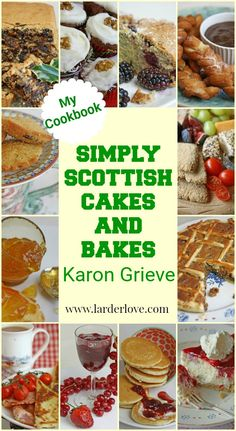 Simply Scottish Cakes and Bakes is a cookbook packed with over 50 fabulous Scottish baking recipes both traditional amd modern. From scones to Black Bun, shortbreads to cranachan cheesecake and so much more. #scottishbaking #baking #cakes #scottishrecipes #homebaking #larderlove New Recipes, Baking Recipes, Real Food Recipes, Cake Recipes, Black Bun, Dinner Party Desserts, Shortbread Biscuits, Baking Basics, Scottish Recipes