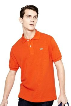dbe98778a Brand New Authentic Factory Overrun Lacoste Men's Short Sleeve Classic Pique  Polo Color: Tangerine Php