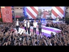 One direction performing Live While We're Young at the Ellen Show