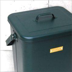 MERCURY(マーキュリー)スクエアダストビンBP(ゴミ箱/ごみ箱/ダストボックス/ごみばこ/おしゃれ/ふた付き/スリム/インテリア雑貨/北欧テイスト/屋外/キッチン/縦型/アメリカン雑貨/ブリキ
