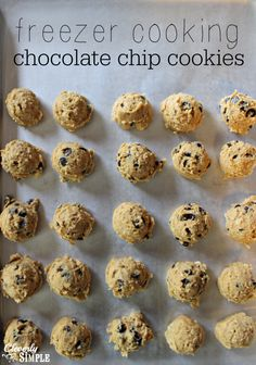 Freezer Cooking Chocolate Chip Cookies Recipe.