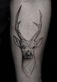 Kamil Mokot deer tattoo