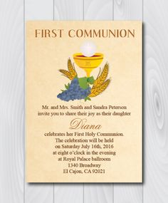printable first holy communion invitation e card first holy