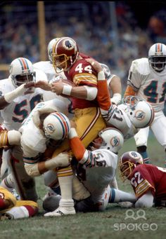 John Riggins, 1978 Dolphins at Redskins Football Is Life, Football Fans, Football Helmets, Football Players, Football Stuff, School Football, Sport Football, Nba Basketball, Redskins Football