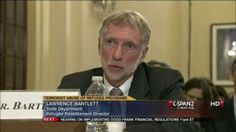 """Last September, US State Dept. Refugee Director said the federal government doesn't resettle refugees in """"unsafe"""" (for the refugees!) communities! LOL! Here he is testifying before Congress about Islamic terrorists getting in to the US through the program (they have and they will!).bartlett-terrorism"""