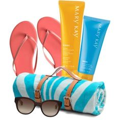 Make a beach-themed basket for mom this Mother's Day.  Mother's Day gift ideas www.marykay.com/cgibbons1