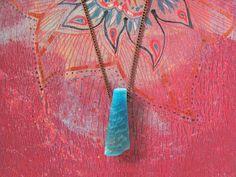 Aqua blue agate pendant. Sliced agate stone by MADAMBLUEONE, €9.72