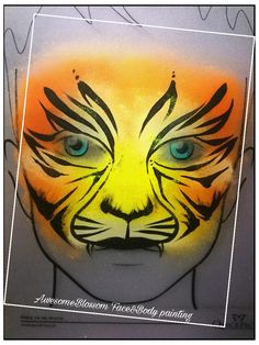 Tiger, facepainting, for kids Tiger Makeup, Face, Projects, Kids, Painting, Animals, Log Projects, Young Children, Children