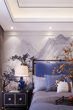 Trendy home interior contemporary decor Ideas Asian Inspired Bedroom, Asian Bedroom Decor, Home Decor Bedroom, Bedroom Ideas, Bedroom Wall Designs, Modern Bedroom Design, Master Bedroom Design, Oriental Bedroom, Oriental Decor