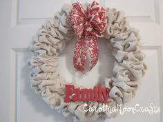 Burlap Wreath - Family Wreath - Fall Wreath