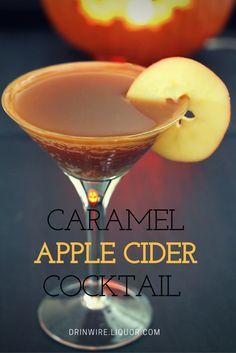 The Caramel Apple Cider Cocktail: Apple Cider, vodka and caramel sauce