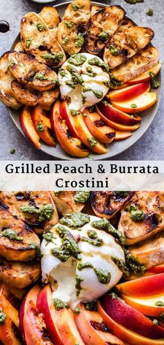 Grilled Peach and Burrata Crostini is an easy to make appetizer for all those fresh summer peaches It s the perfect summer bite crostini peaches burrata pesto balsamicglaze appetizer summerrecipe vegetarian Easy To Make Appetizers, Grill Appetizers, Grilled Peaches, Charcuterie, Summer Recipes, Summer Appetizer Recipes, Summer Vegetarian Recipes, Summer Grilling Recipes, Recipes