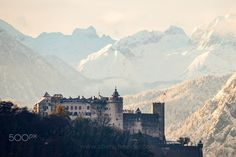 gathered two seasons on one picture. It's autumn again in the city after the snow melted but in the mountains the winter already arrived. Photo by Visit Austria, New Perspective, Winter Day, One Pic, My Images, Explore, Austria Winter, Mountains, City