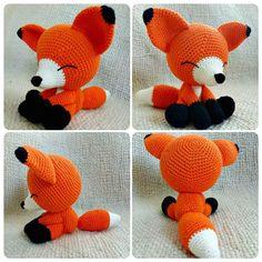 Easy Crochet The Sleepy Fox – Free Pattern - 50 Free Crochet Fox Patterns - Crochet Fox Hat - DIY & Crafts