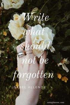 Write what should not be forgotten #writingadvice #writingtips #authoradvice