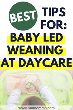 How to do Baby Led Weaning at daycare. Have you been thinking you want to try baby led weaning, but not sure how to do it at daycare? These childcare and daycare tips for new parents and caregivers will help your baby be successful with starting solids through baby led weaning anywhere - including at daycare! There are safety tips and great ideas for how to approach your childcare provider! #babyledweaning #atdaycare #newmomtips #parentingtips #blw #startingsolids #babysfirstfoods #firstfoods Mom Advice, Parenting Advice, Natural Parenting, Baby Safety, Safety Tips, Early Childhood Activities, Childcare Activities, Lesson Plans For Toddlers, Baby Led Weaning