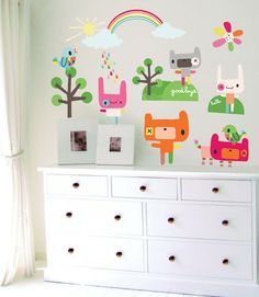 Rainbow Toys Wall Decals not vinyl  Large by Jillian by chocovenyl, £79.99