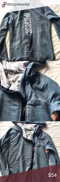 NWT!! Victoria's Secret pink hoodie Victoria's Secret pink hoodie  Size: small  Color: gray  Materials: 57% cotton 38% polyester 5% Elastane  There's an extra bottom handing on the back of the tag  Retail price: 110.00 PINK Victoria's Secret Sweaters
